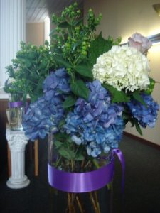 Large Arrangement at Church Entry