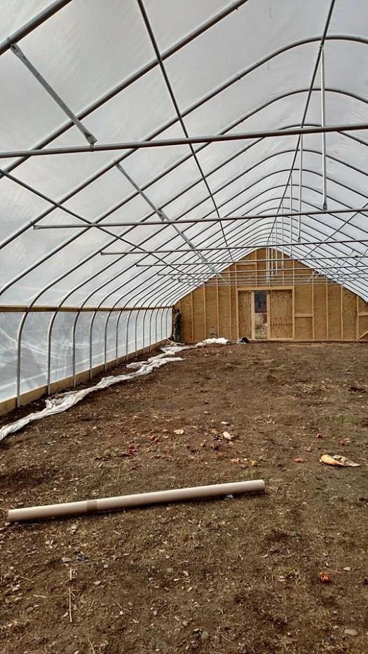 Inside! Time for soil prep.